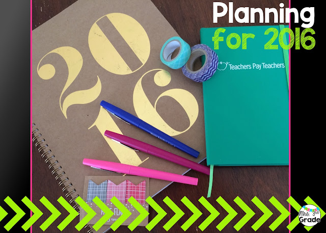 New planners and flair pens are ready to go for some awesome goals for 2016!!