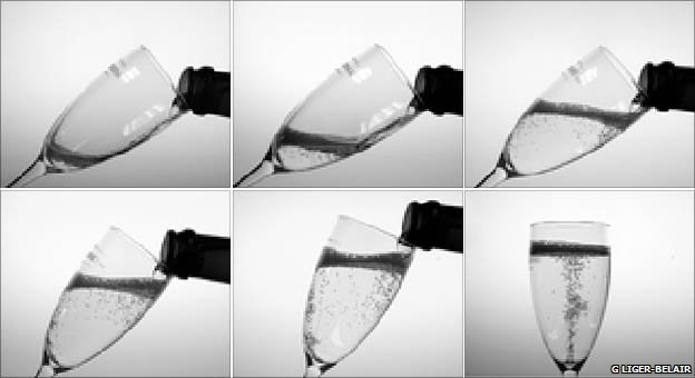 champagne pouring methods