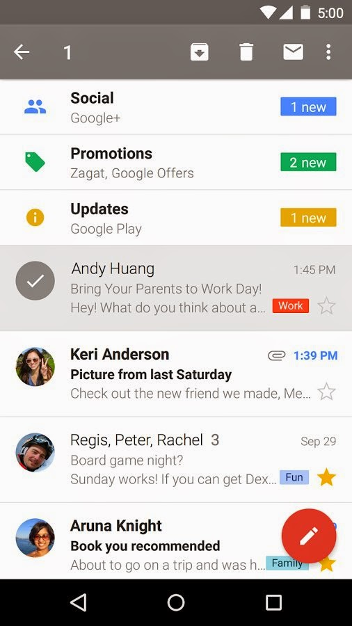 Gmail for Android update brings support for Yahoo Mail and Outlook.com accounts