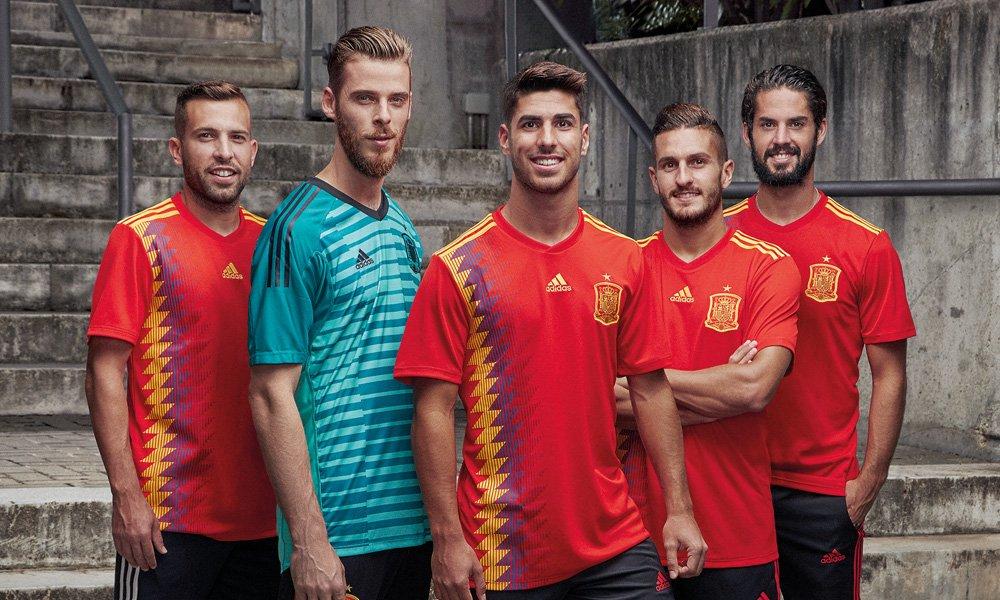 camiseta de españa para la copa del mundo rusia 2018
