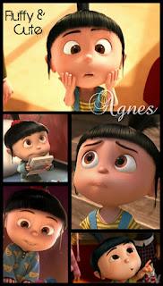 ini namanya agnes, dia ada di film despicable me..lucuuuuu banget ...