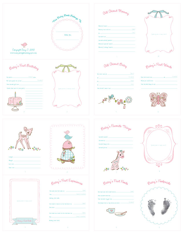 Lucrative image inside baby book printable