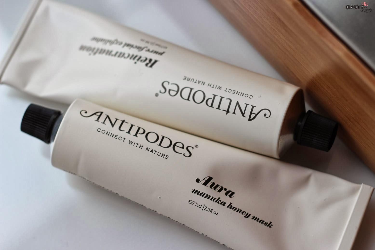 Antipodes Aura Manuka Honey Mask & Reincarnation Pure Facial Exfoliator