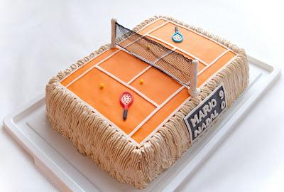 Torta teniško igrišče - tennis court cake