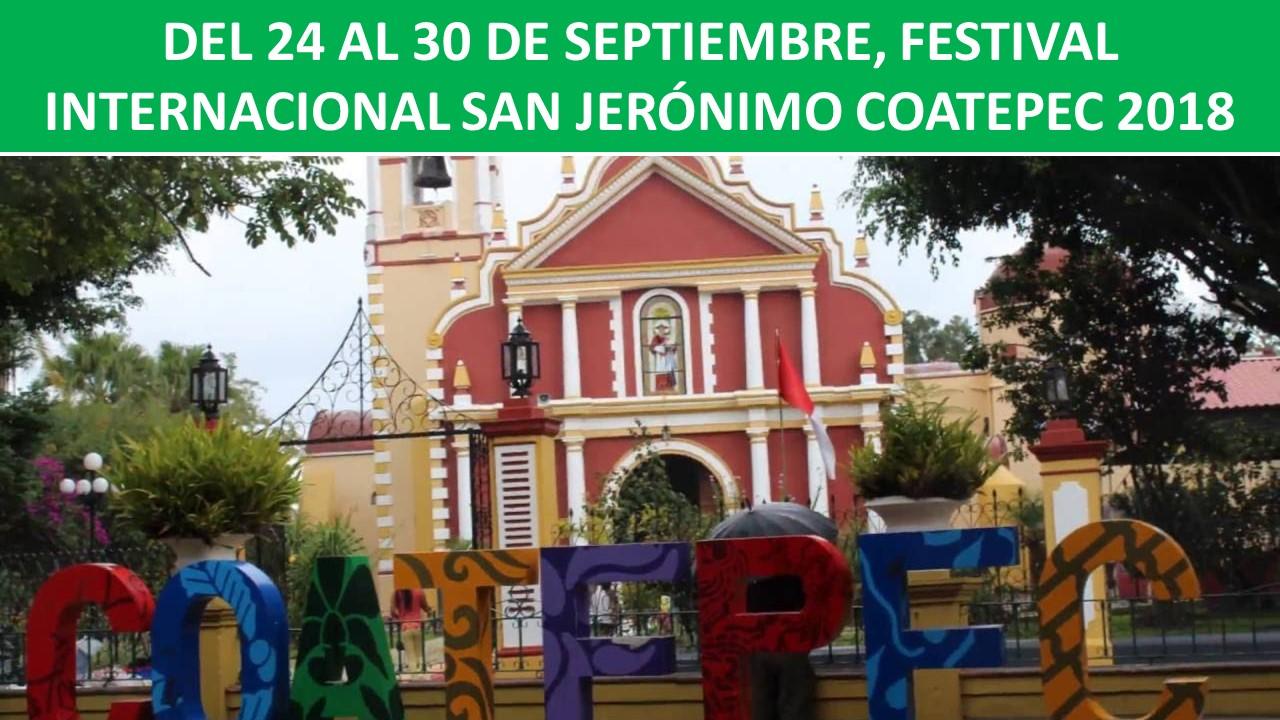 FESTIVAL INTERNACIONAL SAN JERÓNIMO COATEPEC 2018
