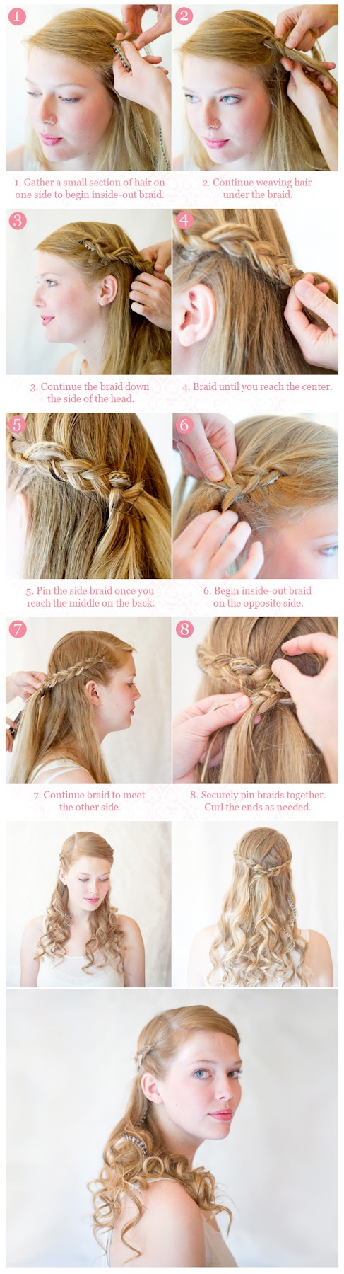 Outstanding Hairstyles Tips And Tutorial Make Inside Out Half Up Braid Hairstyle Inspiration Daily Dogsangcom