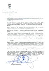 DECLARACION INSTITUCIONAL DEL AYUNTAMIENTO DE SAN BARTOLOME