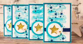 Turquoise Star Card using Perpetual Birthday Stamps from Stampin' Up! UK