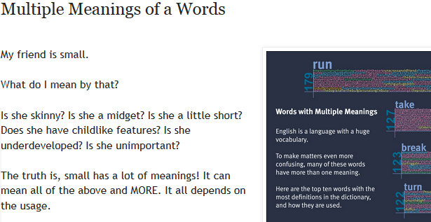 http://eslcarissa.blogspot.mx/2014/03/multiple-meanings-of-words.html