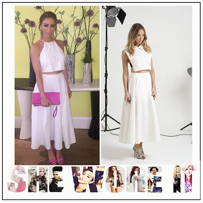 Bright, By Lauren Pope, Celebrity Fashion, Full Skirt, High Waisted, INTHESTYLE, Lauren Pope, Midi Skirt, Pleated, Skirt, The Only Way Is Essex, TOWIE, White,