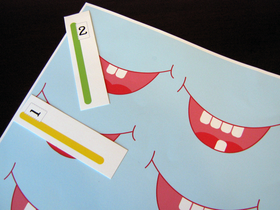 BitsyCreations: FREE Preschool Tooth Counting Game Printable