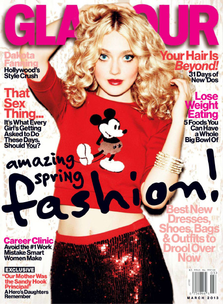GLAMOUR March 2013 Dakota Fanning magazine scans