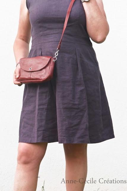 sac à main cuir rouge etsy