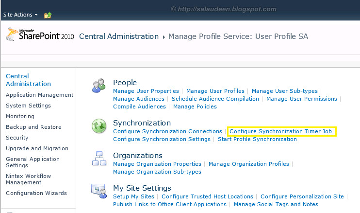 SharePoint Profile Synchronization Schedule