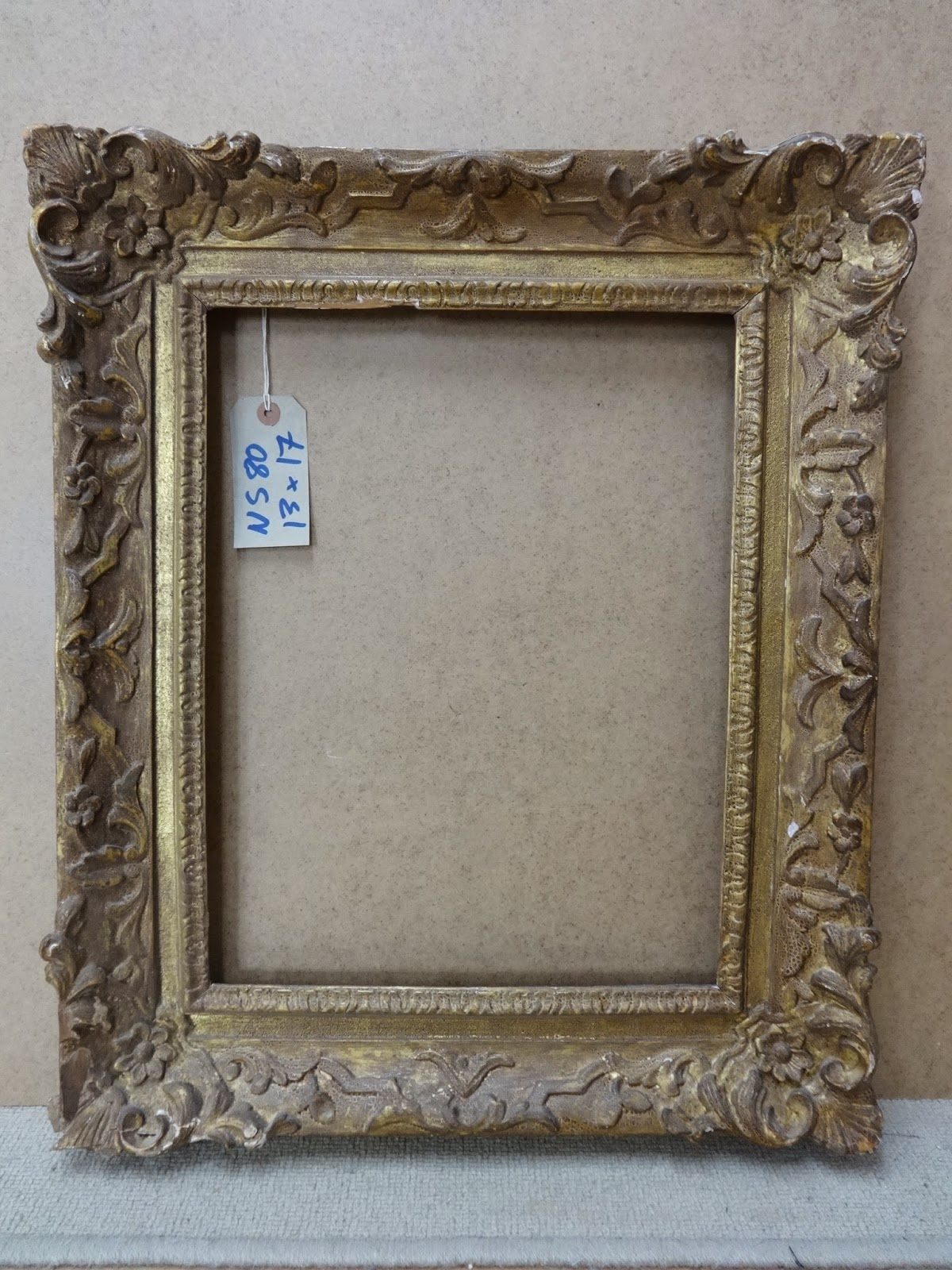 Antique Frame Sale: An 18th Century English Louis XIV Carved Frame