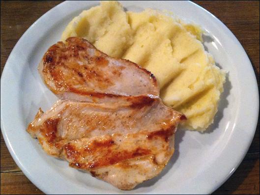 La panader a rosetta plato del d a pollo a la plancha - Pure de patatas y calabaza ...