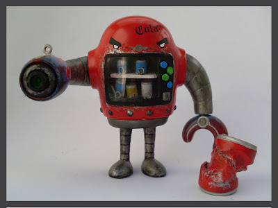 Bad Ass Vending Machine Custom Sketchbot Vinyl Figure by Reddprime