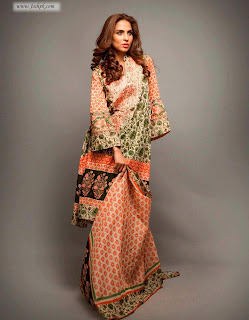 Deepak Perwani Latest Lawn Collection 2013 For Ladies - Pakistani