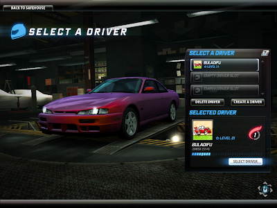 Need For Speed World - Change Driver