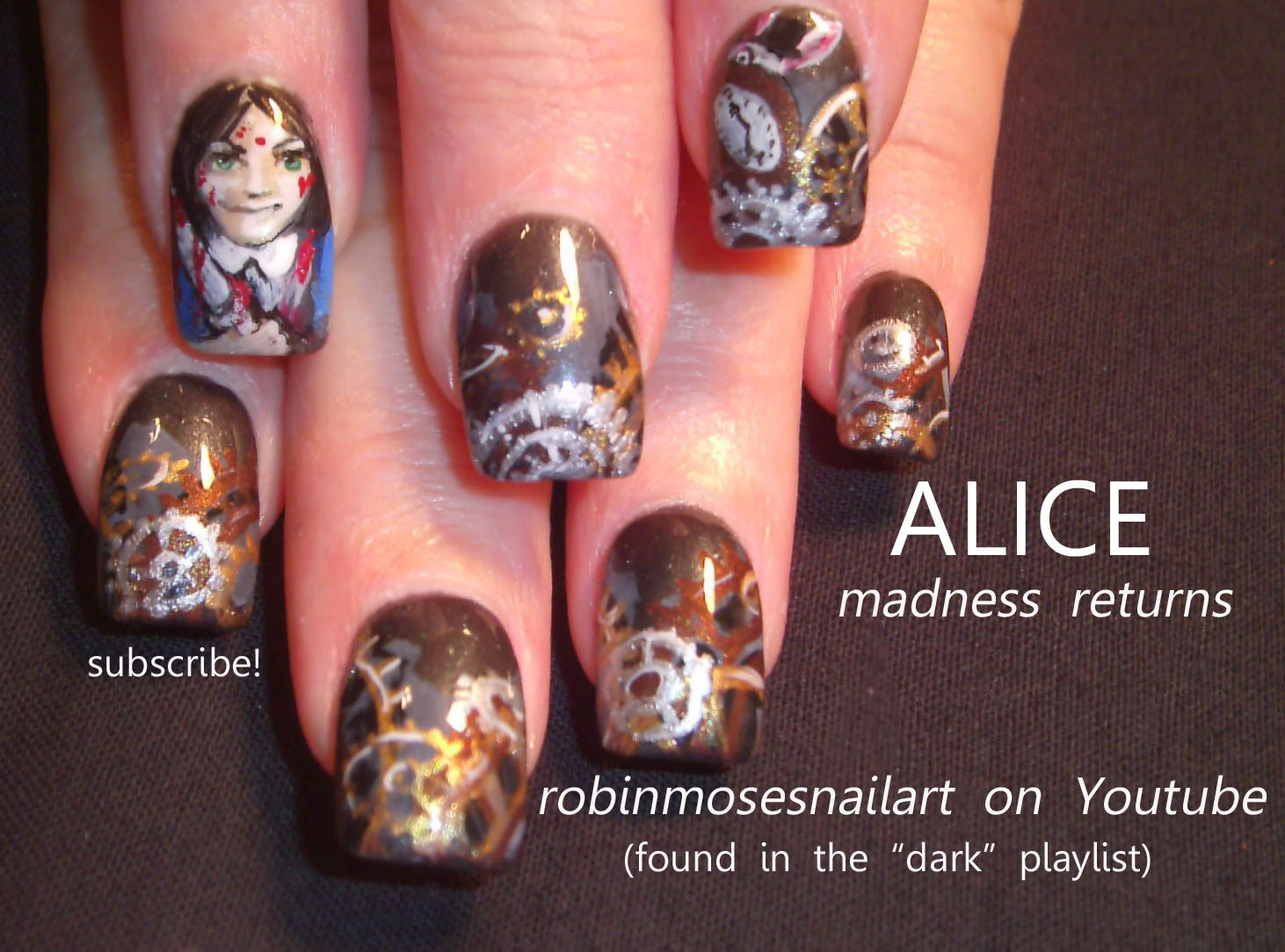 halloween nails\