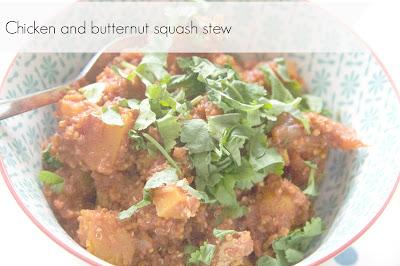 Dairy free chicken and butternut squash stew