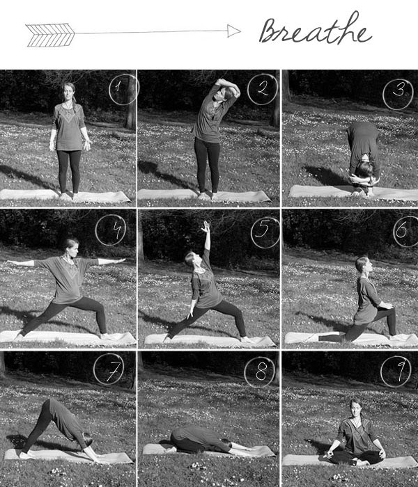 Collage of yoga postures