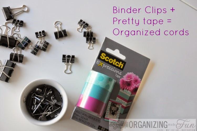 I love Binder Clips :: OrganizingMadeFun.com
