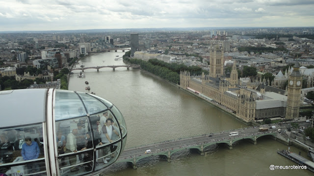 Vista panorâmica da London Eye - Londres