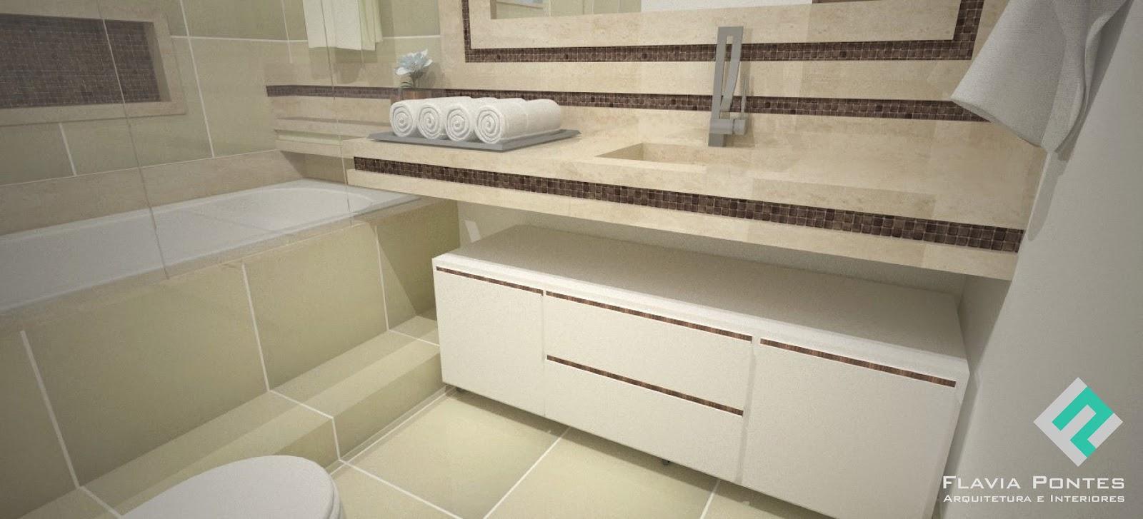 Flavia Pontes Arquitetura -> Quanto Custa Um Banheiro Com Banheira