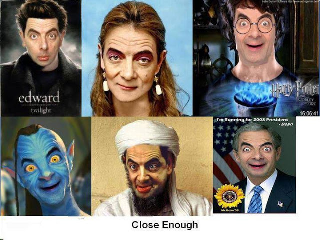 famous characters with funny MR Bean face funny photos ...