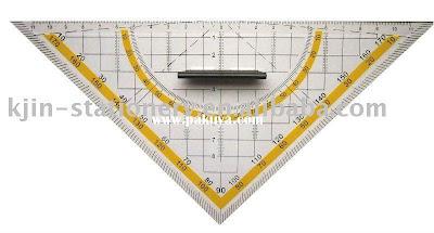 alat gambar arsitektur, penggaris segitiga, hand grip, triangular ruler