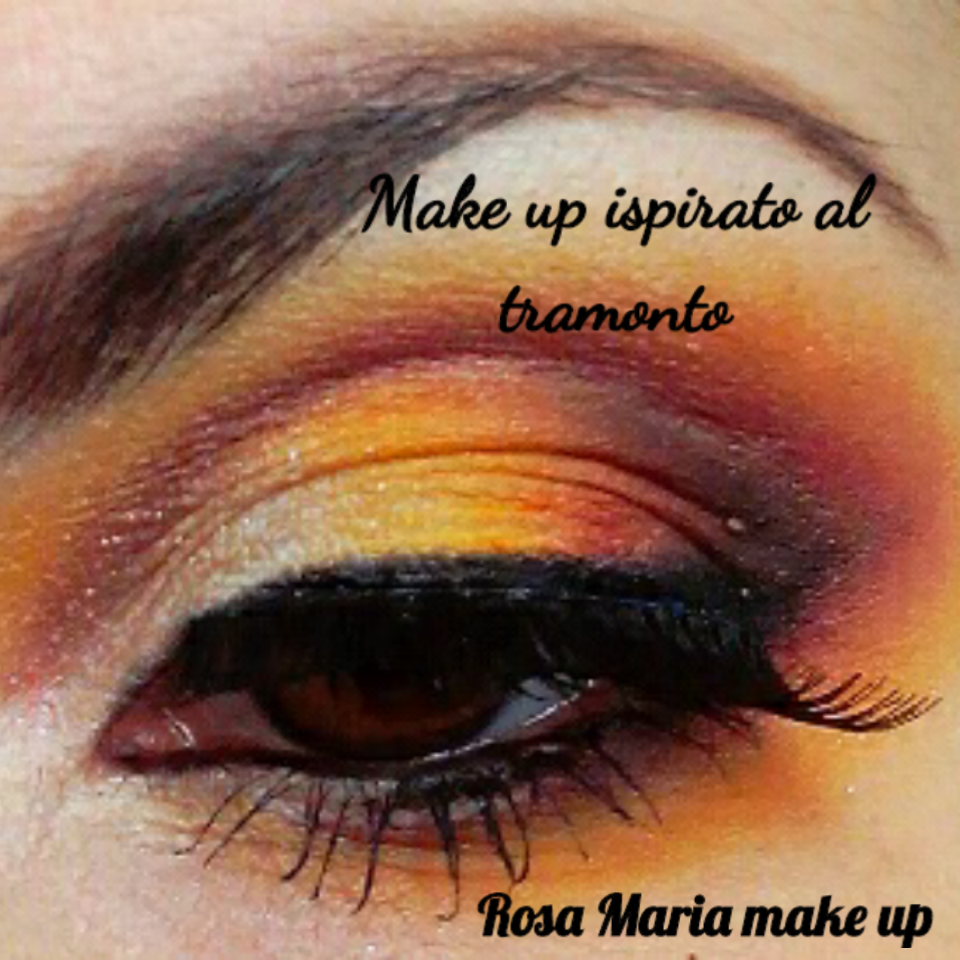 MAKE UP ISPIRATO AL TRAMONTO