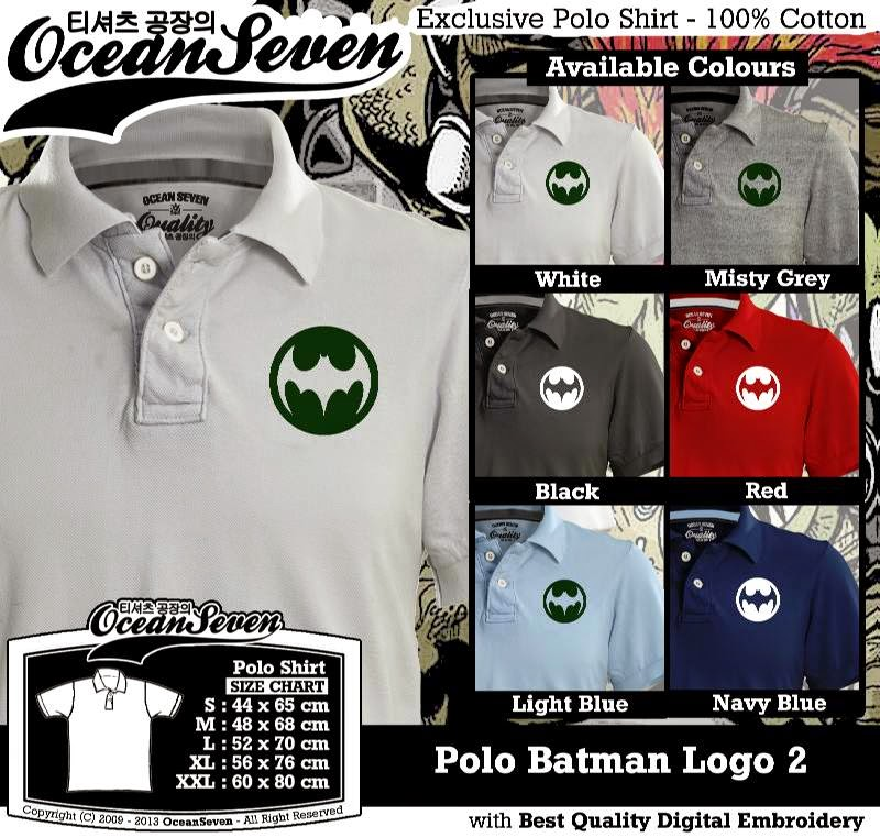 Kaos Polo Batman Logo 2