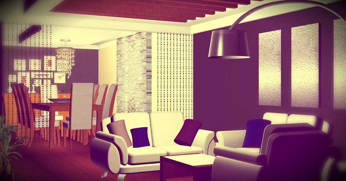 Dise o interior de departamento separador de espacios - Muros decorativos para interiores ...