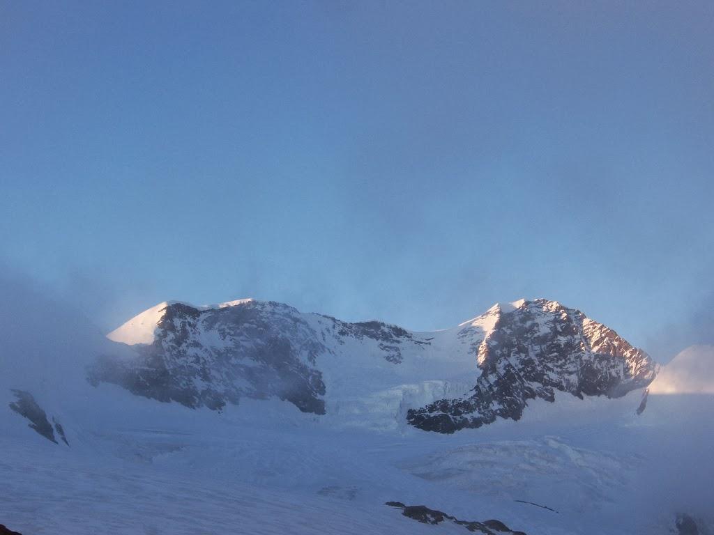Panoramica M.te Rosa da Rifugio Q. Sella Mt. 3585