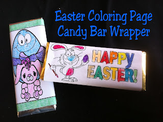 Easter Color Page Candy Bar Wrapper Free Printable by Kandy Kreations