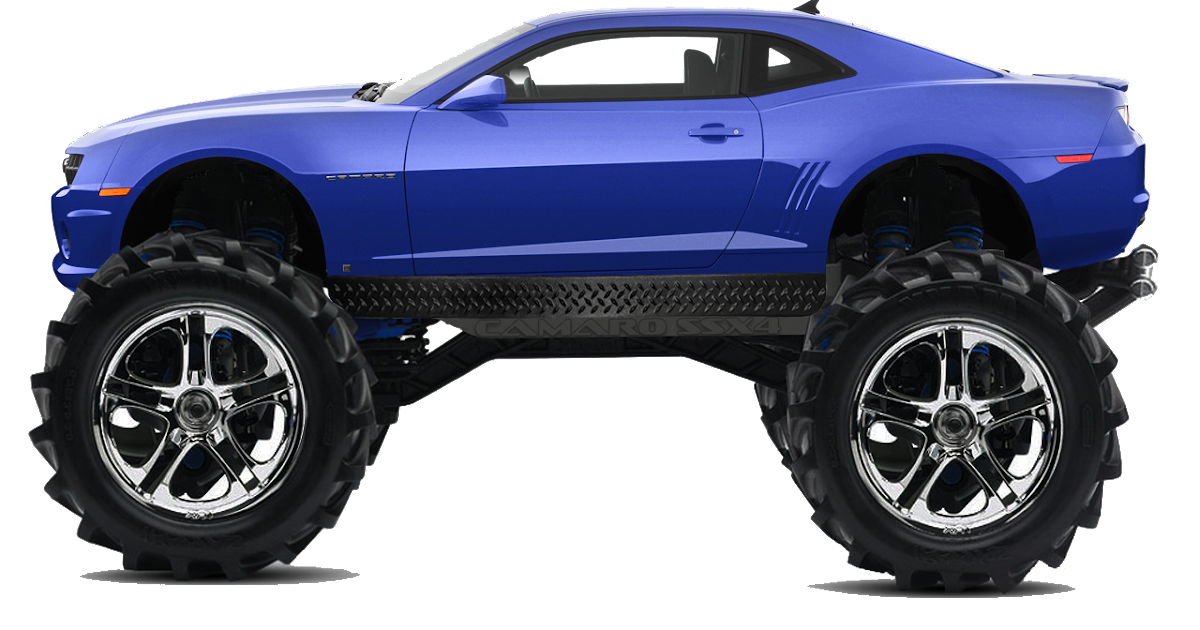 Camaro Monster Truck >> Green Devil Designs: Monster Camaro RC PNG