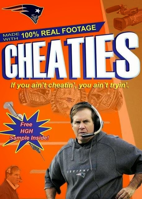 Made with 100% real footage Cheaties If you ain't cheatin', you ain't tryin'. free HGH Sample Inside! - #Patriotshaters #cheaties #patriotscoach