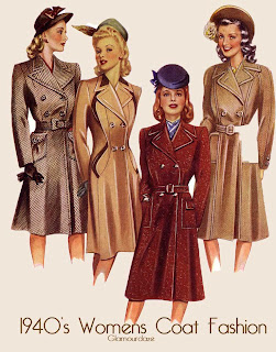 1940s fashion Women coat