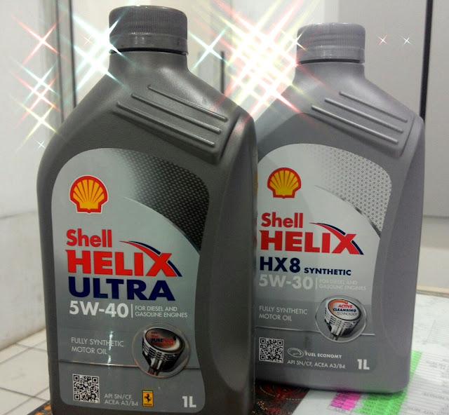 Oli Shell Helix Ultra dan HX8