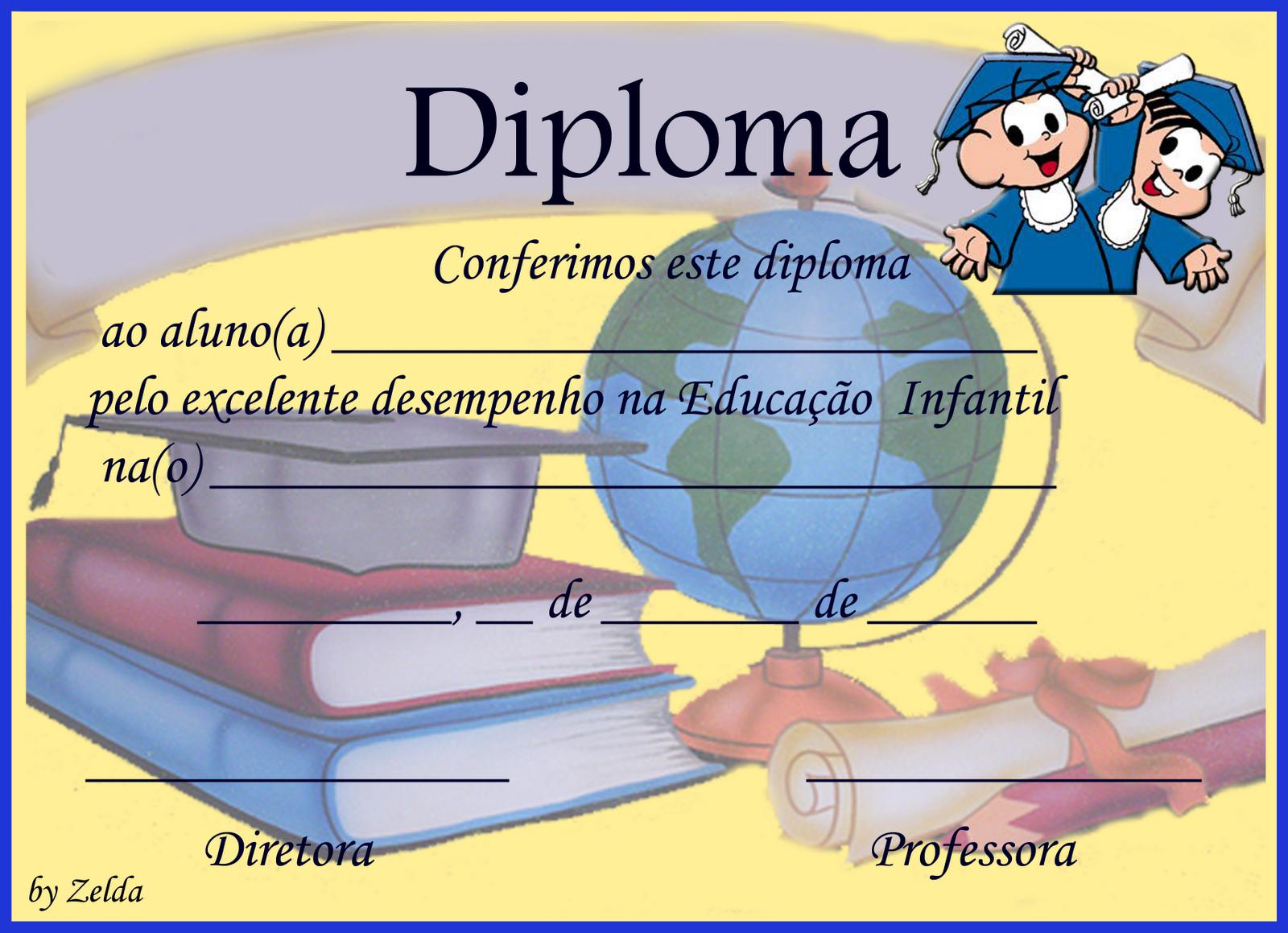 Certificados E Diplomas Para Formatura Infantil   Parte 4