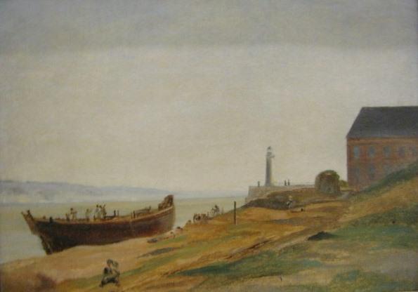 Жан-Батист-Камиль Коро, Онфлер. Строительство лодки, 1822