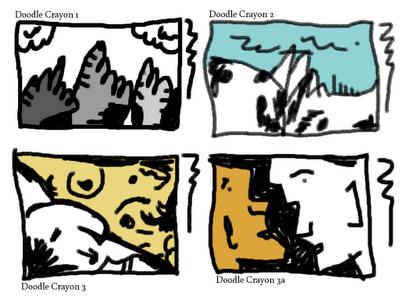 Exemplos feitos com Doodle Crayons.