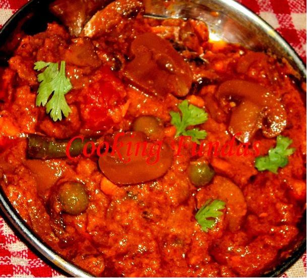 Cooking fundas mushroom matar masala thecheapjerseys Images