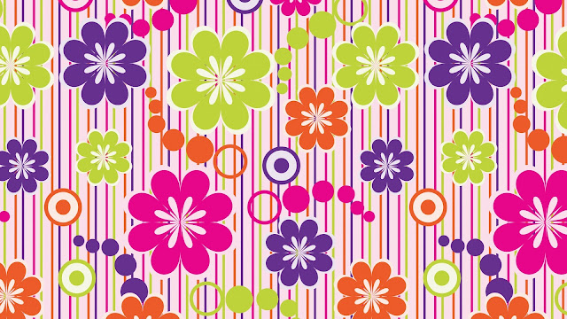 Artistic Colored Flowers HD Wallpaper