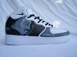 Tupac Sneakers Redemption Custom