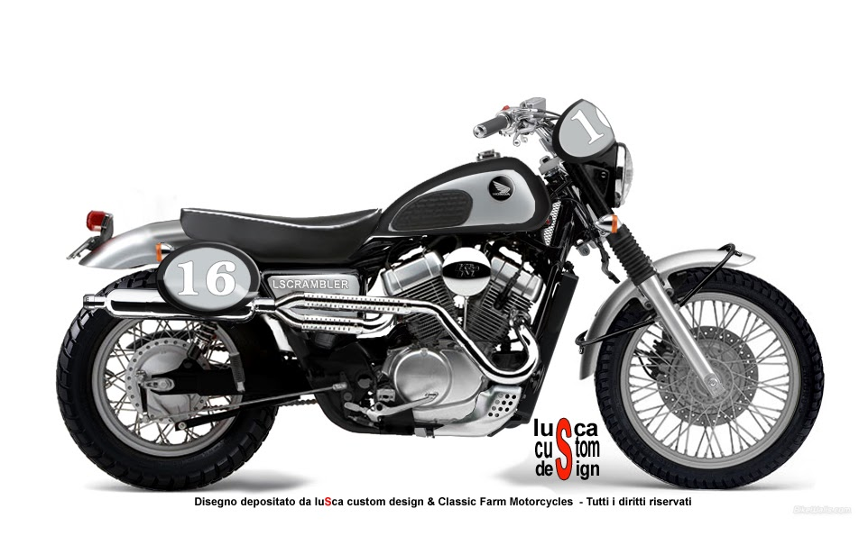 lusca custom design honda vt 750 scrambler. Black Bedroom Furniture Sets. Home Design Ideas