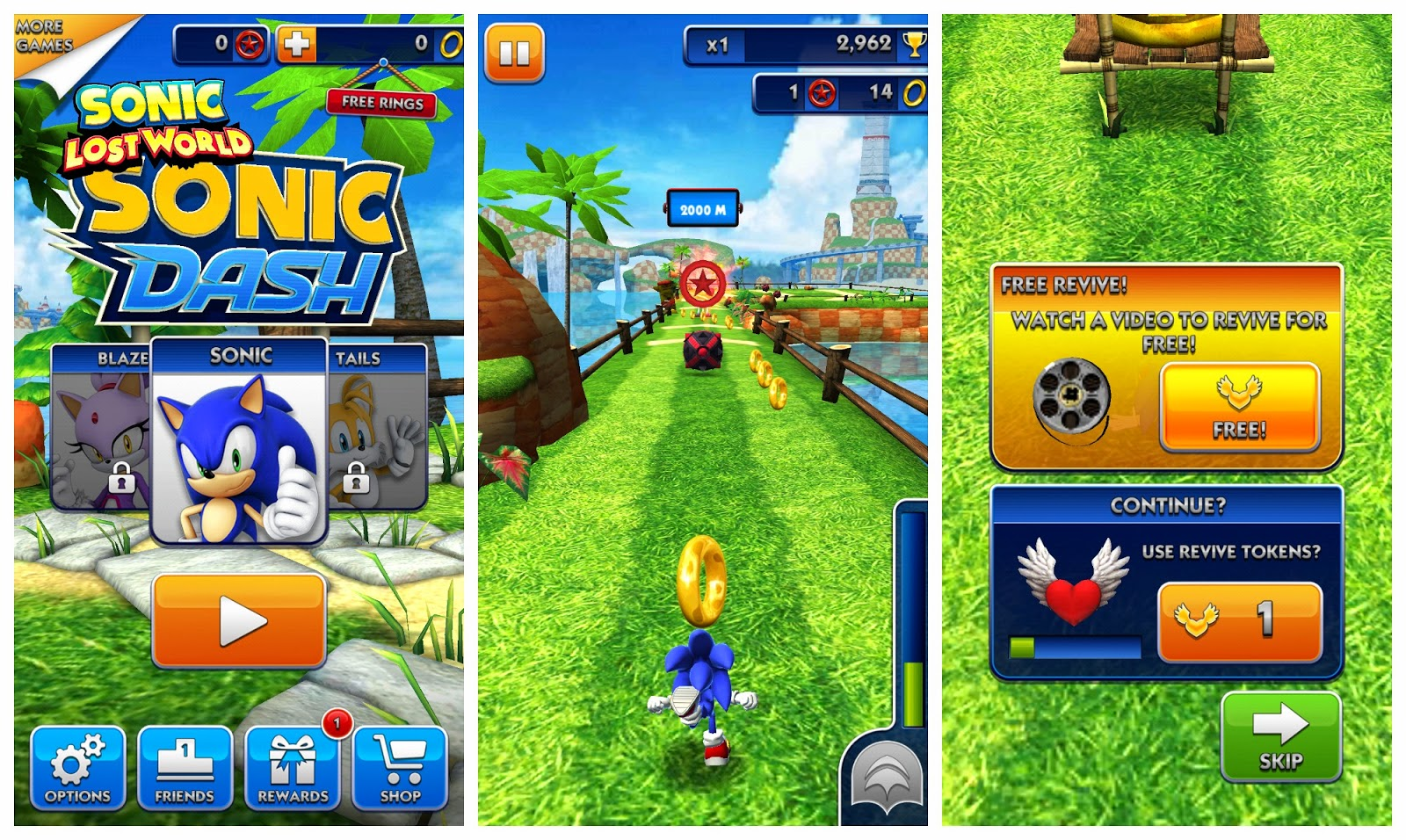 play sonic dash game
