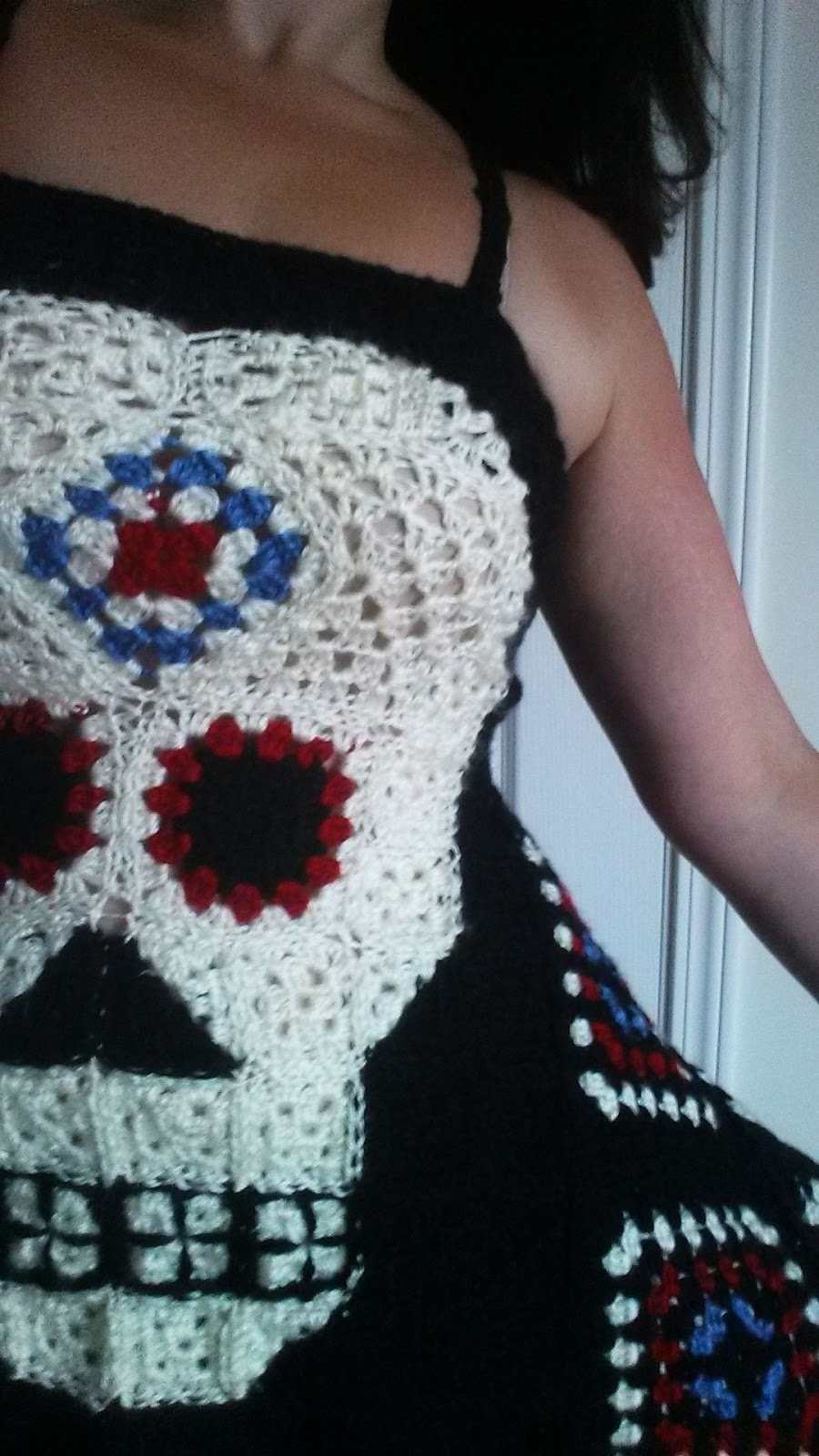 Sugar Granny Skull Top -free crochet pattern-