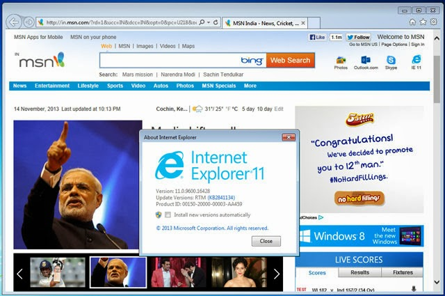 Internet explorer 11 with bing bing microsoft also change the